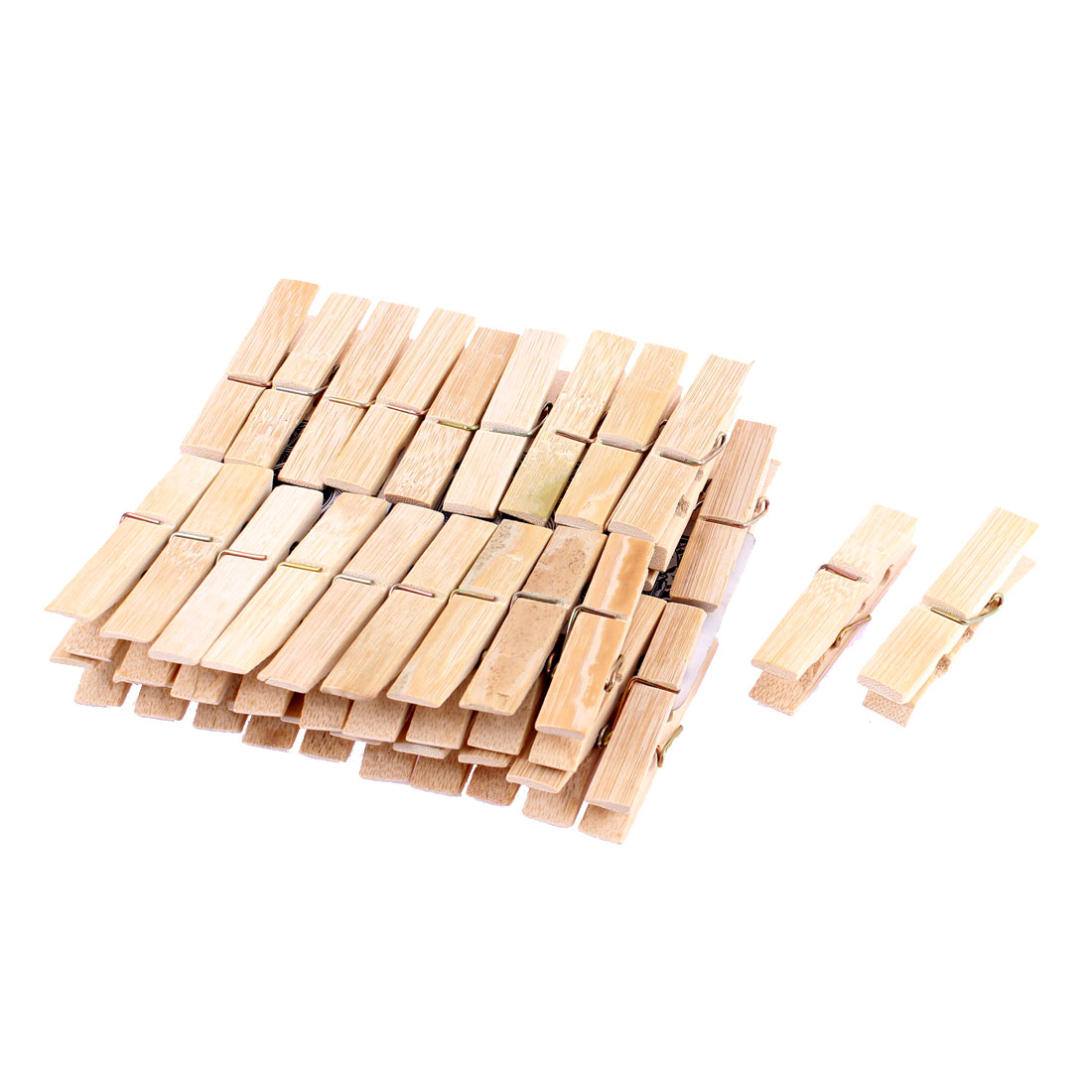 Laundry Clothes Pins Hanging Clips Beige 40Pcs