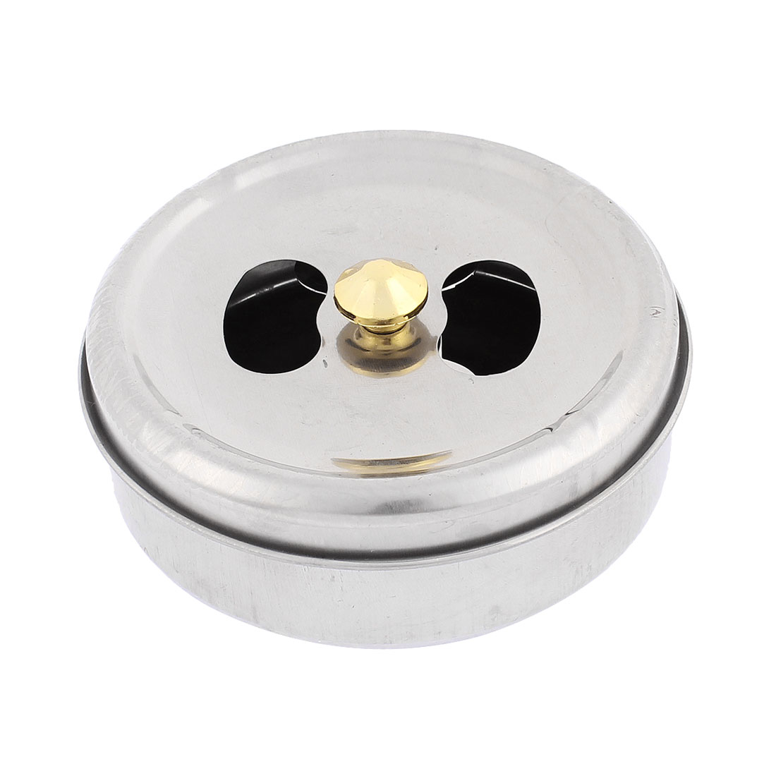 Cylinder Shape Rotating Lid Cigarette Holder Ashtray