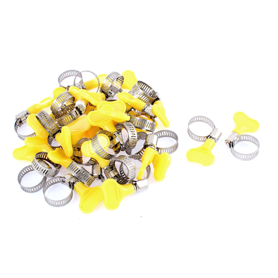 Adjustable 13-19mm Range Band Stainless Steel Worm Drive Hose Clamp 30Pcs
