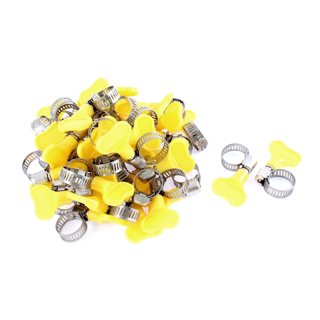 Adjustable 9-16mm Cable Tight Coolant Hose Pipe Clamp 40Pcs
