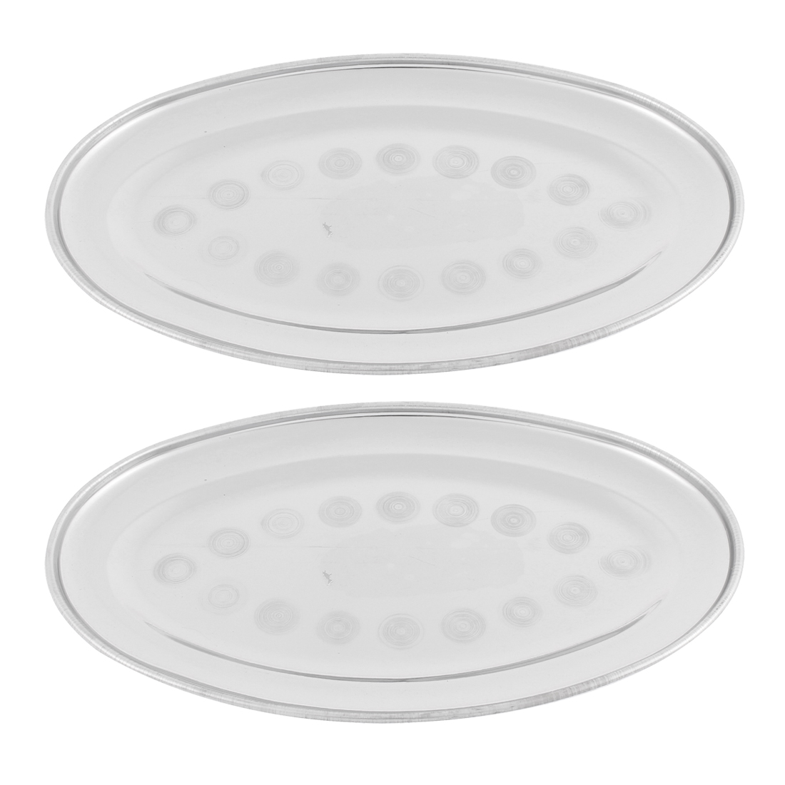 "Oval Shape Food Dish Container Plate 8.5"" Length 2PCS"