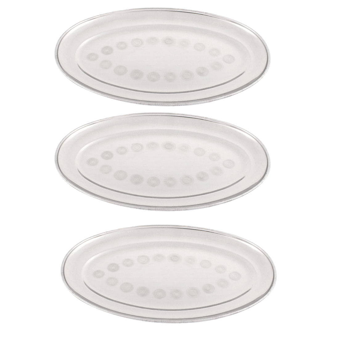 "Oval Shaped Table Dinner Dish Plate 10"" Length 3PCS"