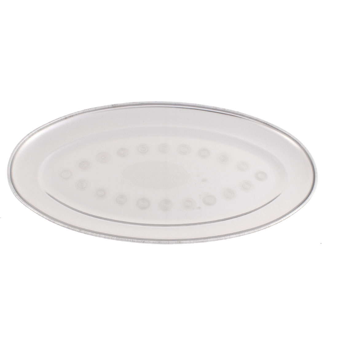 "Stainless Steel Oval Shape Dinner Dish Plate Tray 11"" Length"