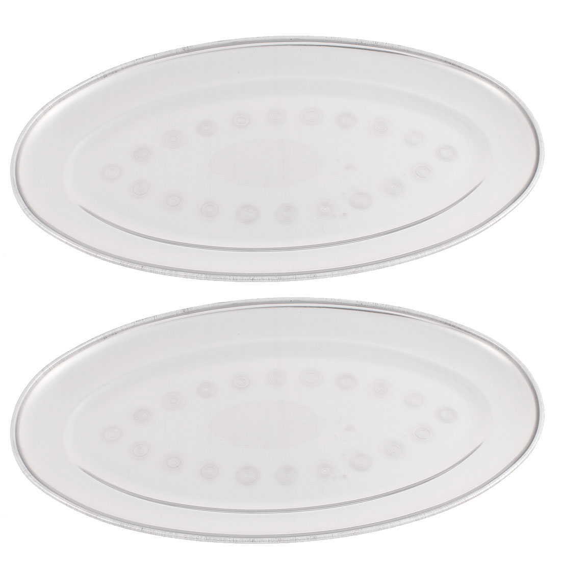 "Oval Shaped Food Container Dish Plate 11"" Length 2PCS"