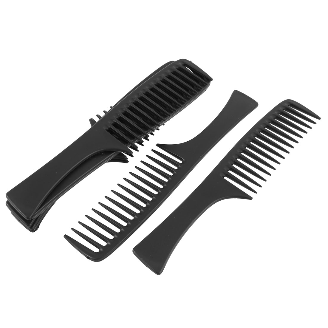 Plastic Wide Tooth Hairstyle Hair Combs Black 22cm Length 8Pcs