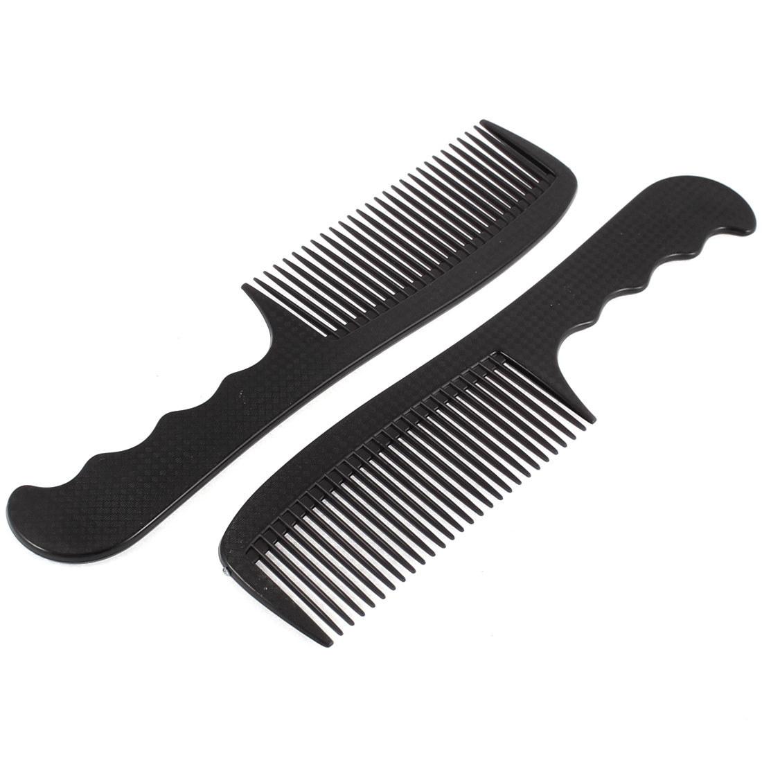 Plastic Massage Scalp Hairdressing Hair Combs Black 2Pcs