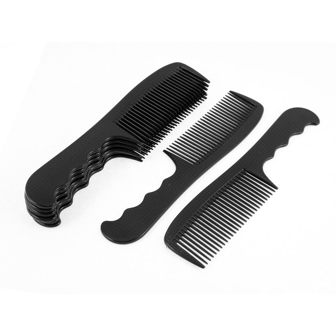 Plastic Anti Static Beauty Tool Hairdressing Hair Combs Black 8Pcs