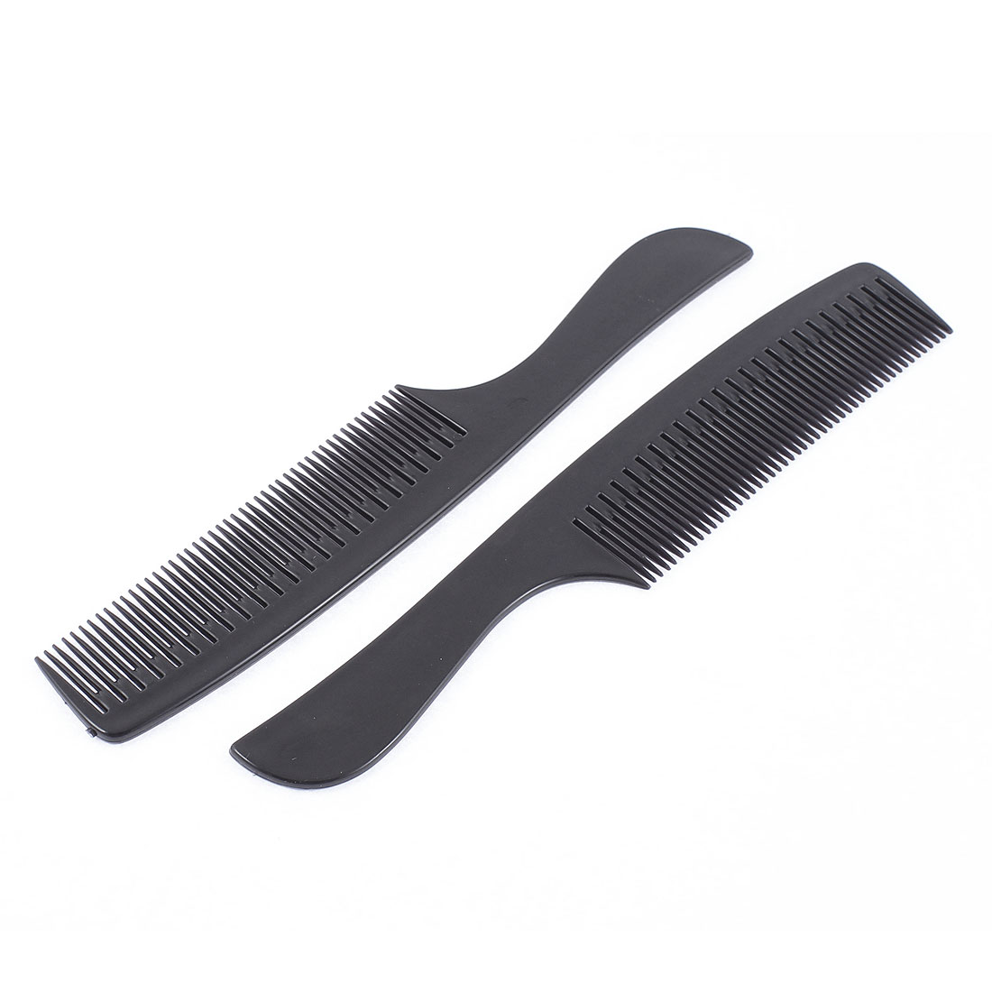 Black Plastic Hair Styling Combs 21cm Long 2 Pcs