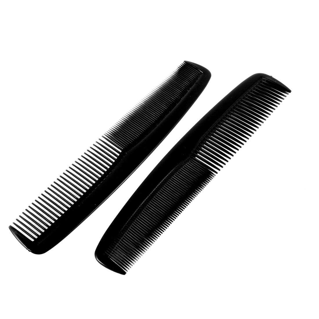 Barber Shop Salon Hairdressing Haircut Plastic Hair Comb Black 21cm Length 2 Pcs