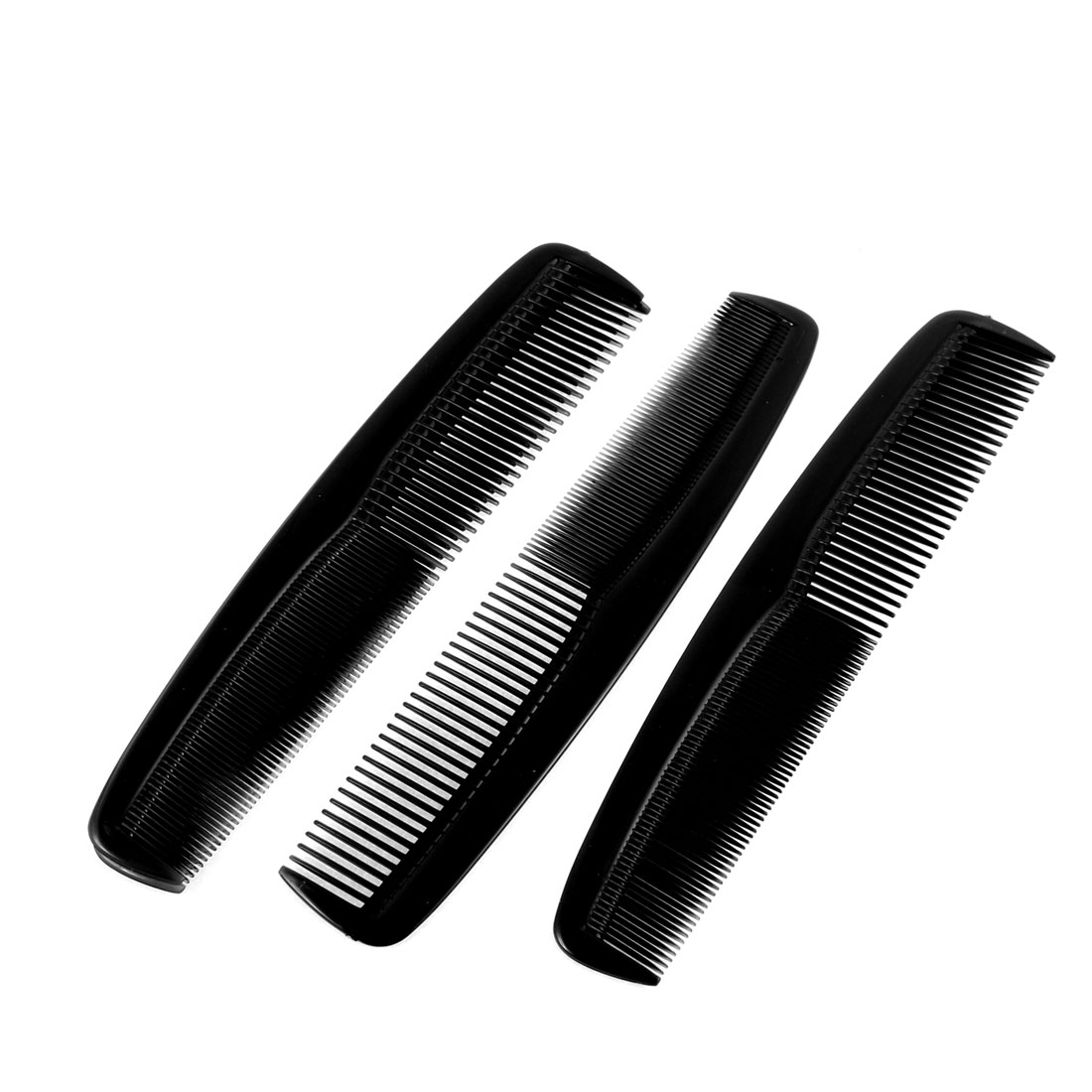 Lady Hairdressing Plastic Anti Static Hair Comb Hairbrush Black 21cm Long 4pcs