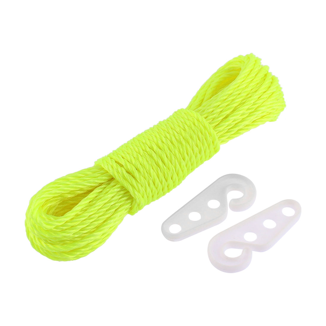 Outdoor Nylon Clothesline Clothes Rope 10M 33Ft Long Yellow