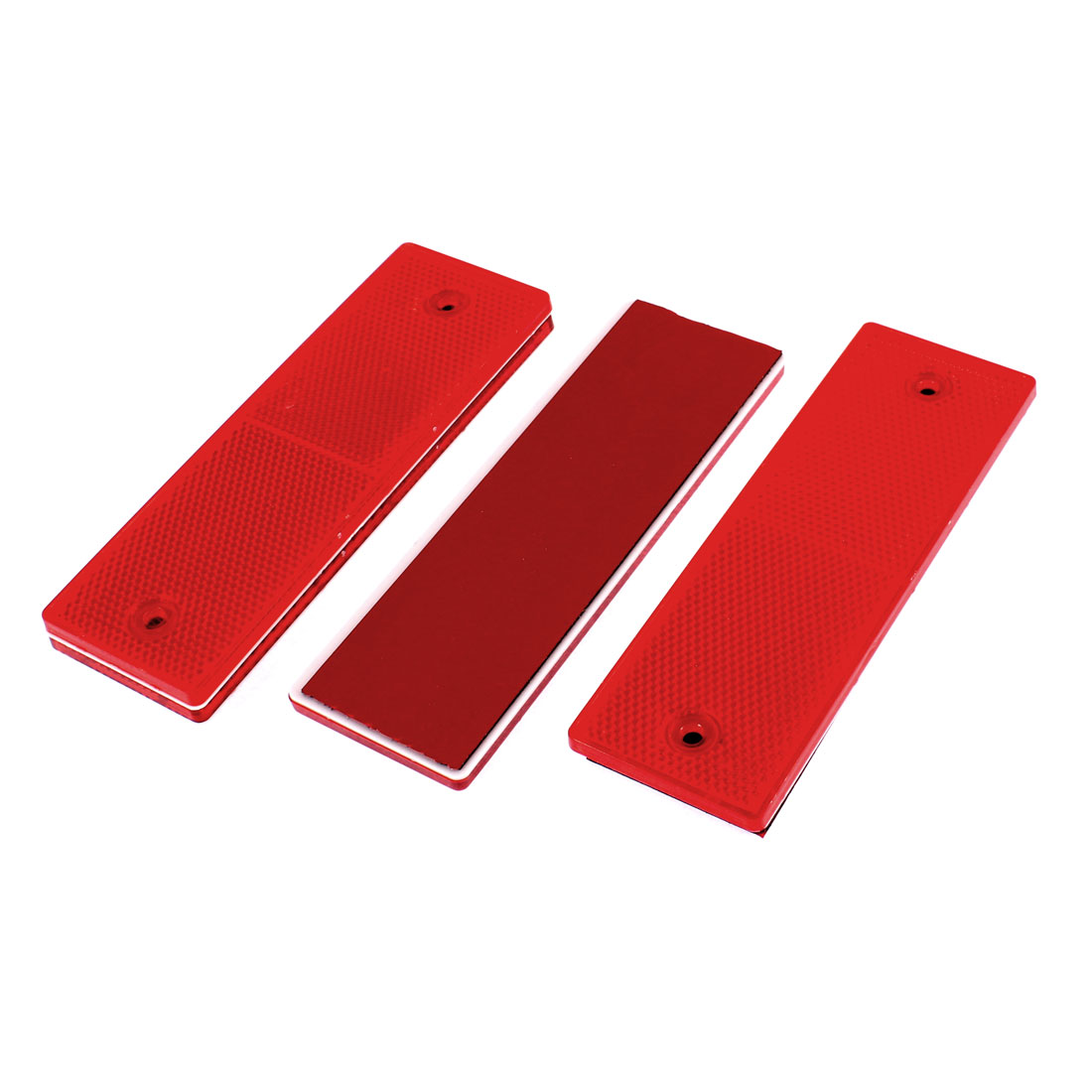Car Truck Safety Reflective Warning Self-adhesive Mounting Plate Stickers Red 4pcs