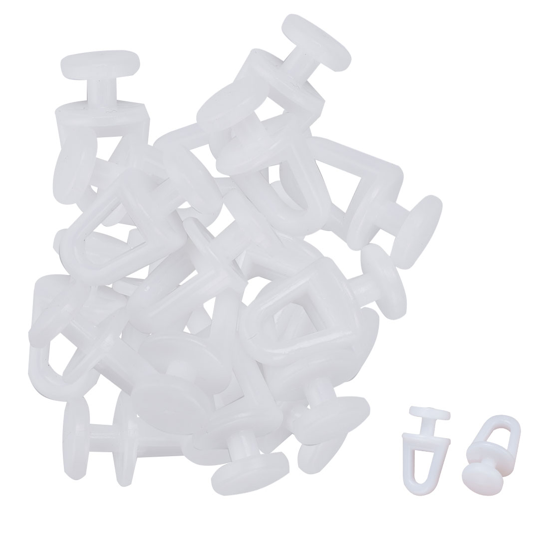 Window Plastic Curtain Glider Track Wheel Carrier Slide Rollers 30pcs