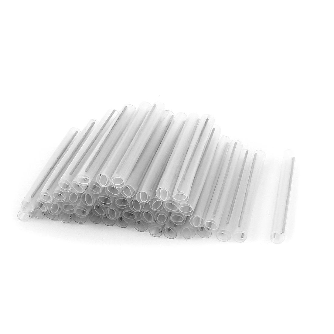 200 Pcs Protective Sleeve Fiber Optic Splicing Tube Dual-Needle 6cm Long