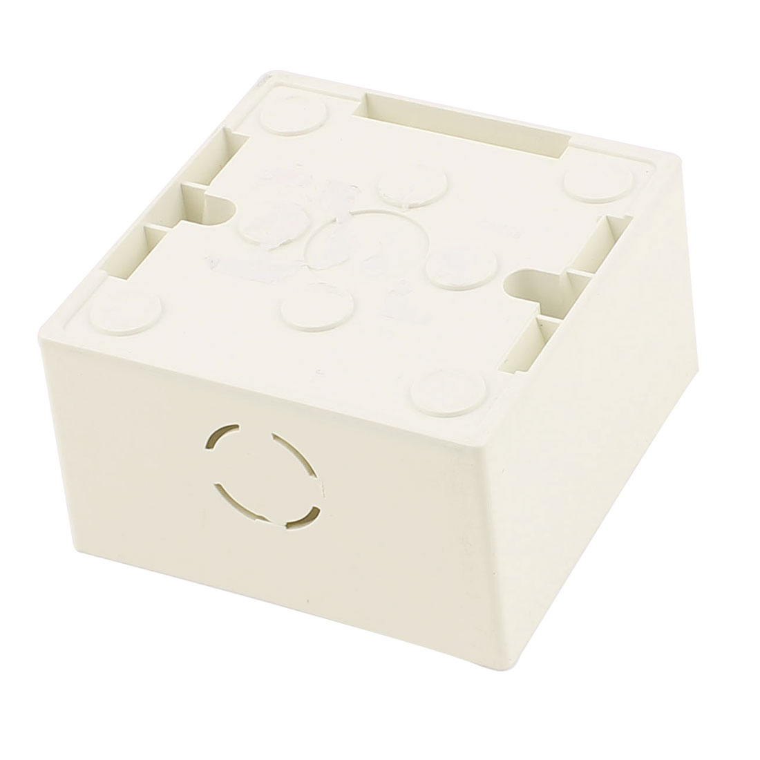 86mm x 86mm x 45mm White PVC Mount Wallpanel Single Gang Junction Box