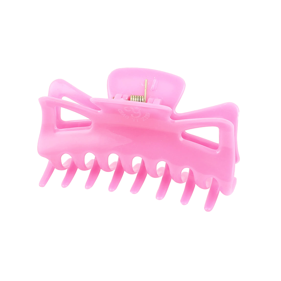Ladies Women Fashion Plastic Butterfly Hair Claw Clamp Clip Hairpin Clear Pink