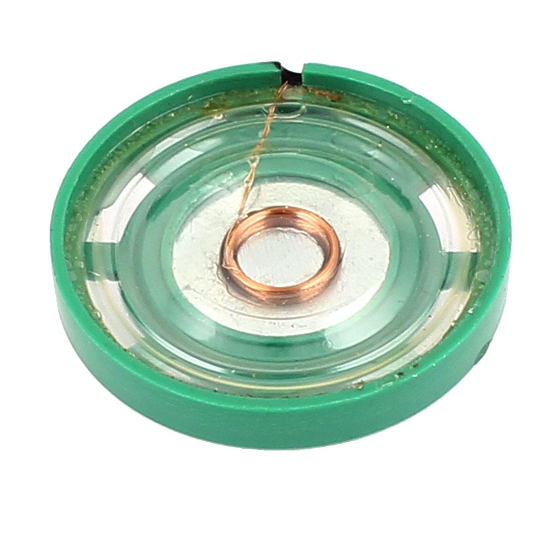Plastic Case 27mm 8 Ohm 0.25W External Magnet Speaker Horn Loudspeaker Green
