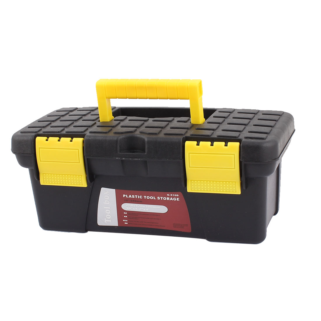 Electrician Engineer Plastic Dual Layers Tools Hardware Storage Box Black Yellow