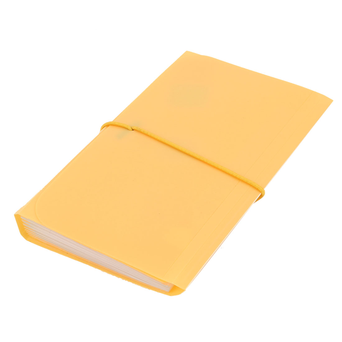 Elastic Drawstring 13 Pockets Paper Document Receipt Organizer File Holder Yellow
