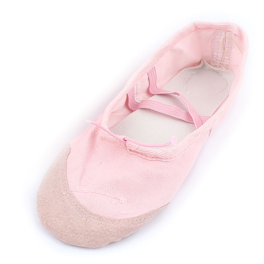 Ladies Soft Canvas Elastic Bands Flat Ballet Dancing Shoes Pink US Size 5