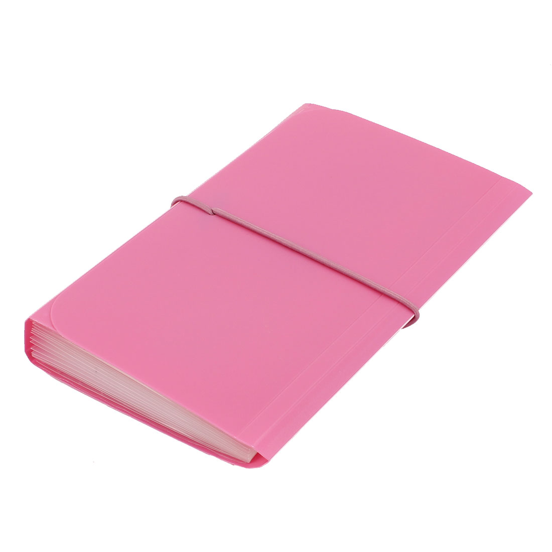 Elastic Drawstring 13 Pockets Paper Document Receipt Organizer File Holder Fuchsia