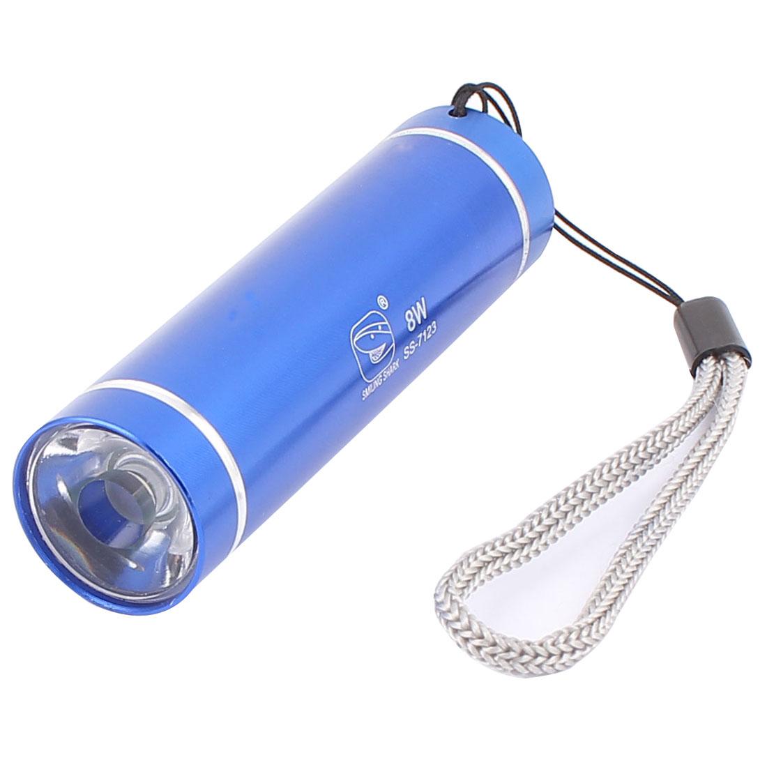 Aluminium Alloy Shell 1-LED White Light Flashlight Torch Lamp Blue
