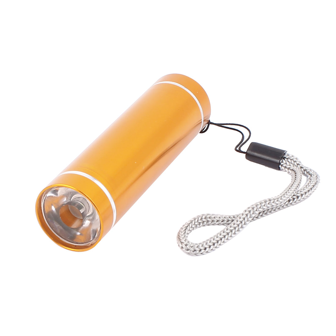 Camping Hiking Aluminium Alloy Shell 1-LED White Light Flashlight Torch Lamp