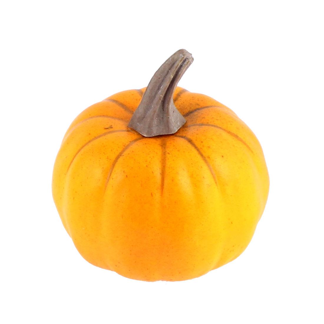 Home Kitchen Party Artificial Vegetable Decor Teaching Props Mini Pumpkin Orange