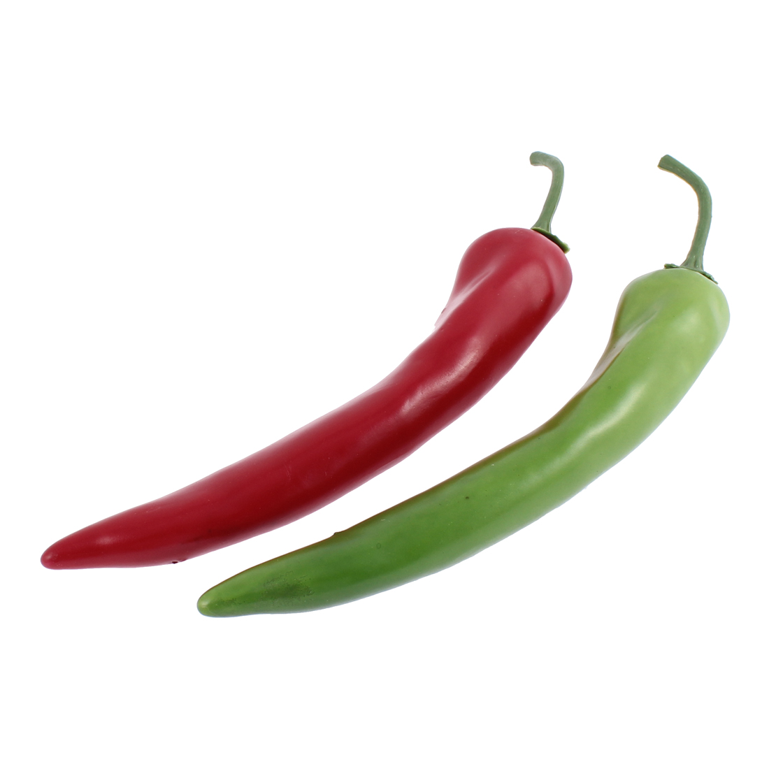Home Decorative Vegetables Artificial Fake Chili Pepper 2 Pcs