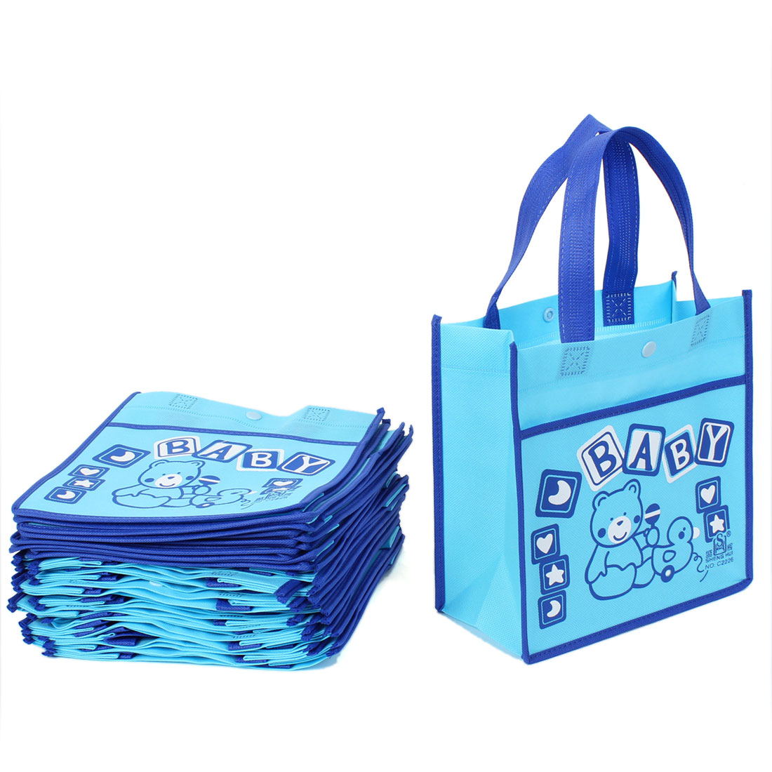 20pcs Cartoon Pattern Reusable Shopping Non Woven Bags Tote 22 x 22cm
