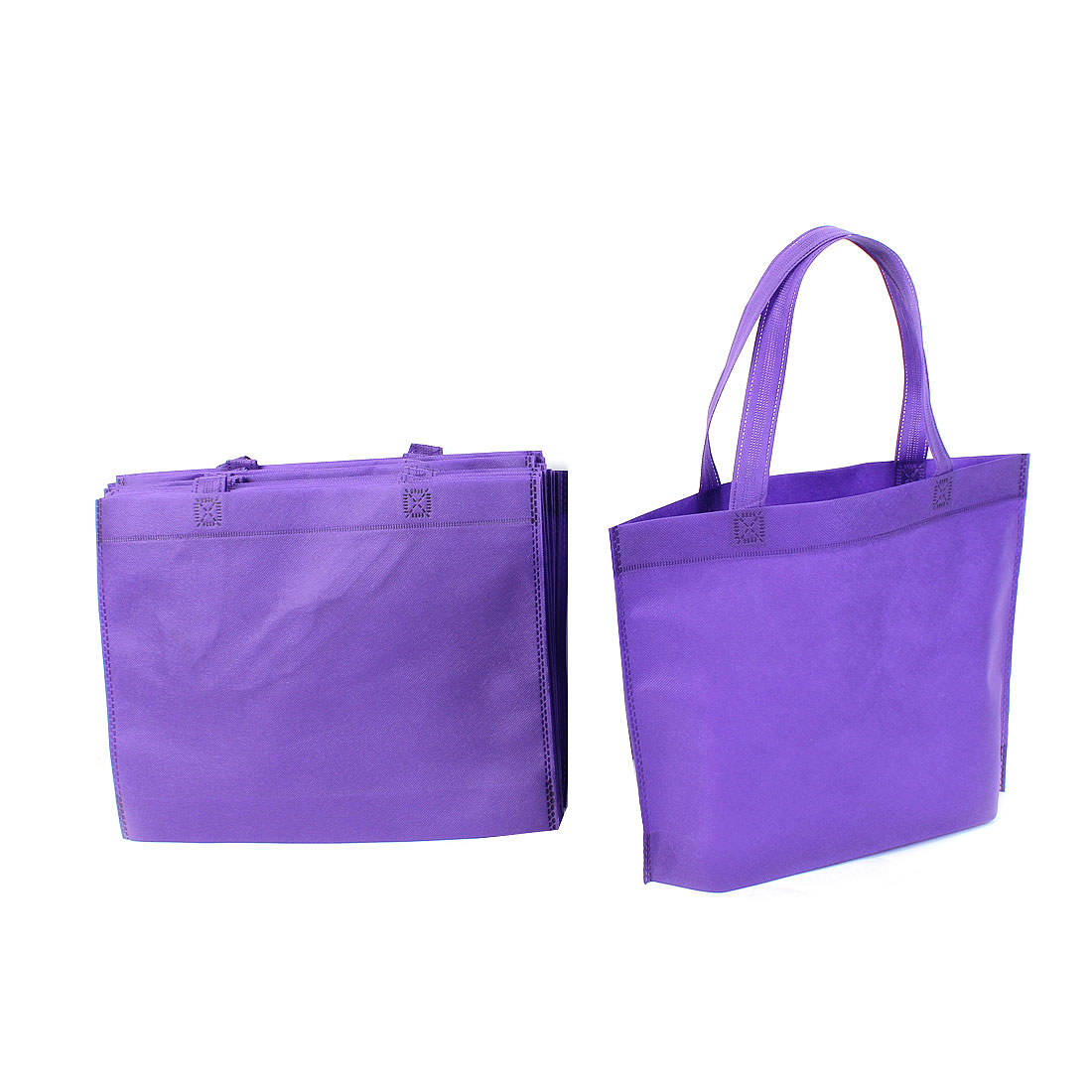 Home Non Woven Foldable Storage Shopping Bag 35cm x 28cm Purple 20 Pcs