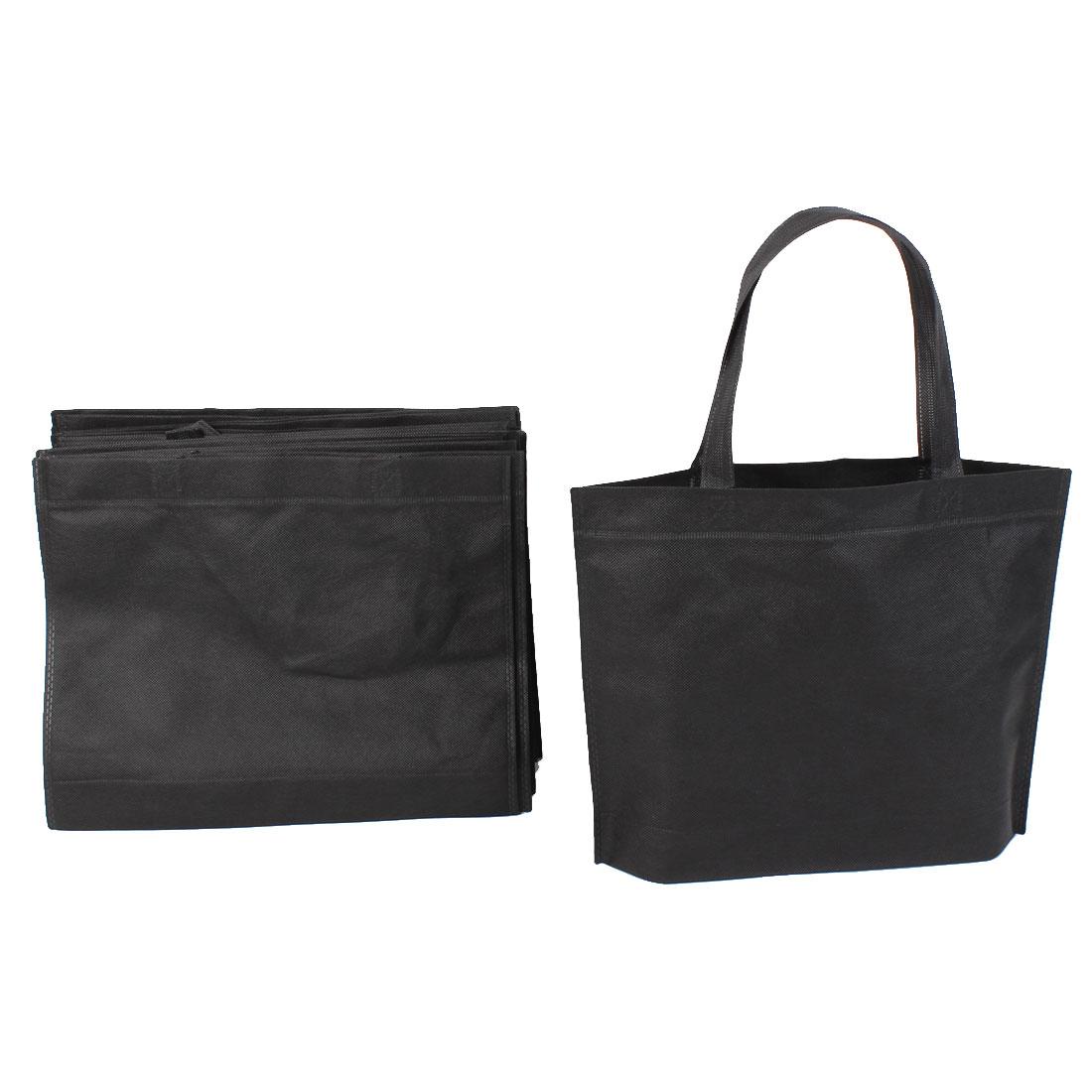 Home Non Woven Folding Storage Shopping Bag 35cm x 28cm Black 20 Pcs