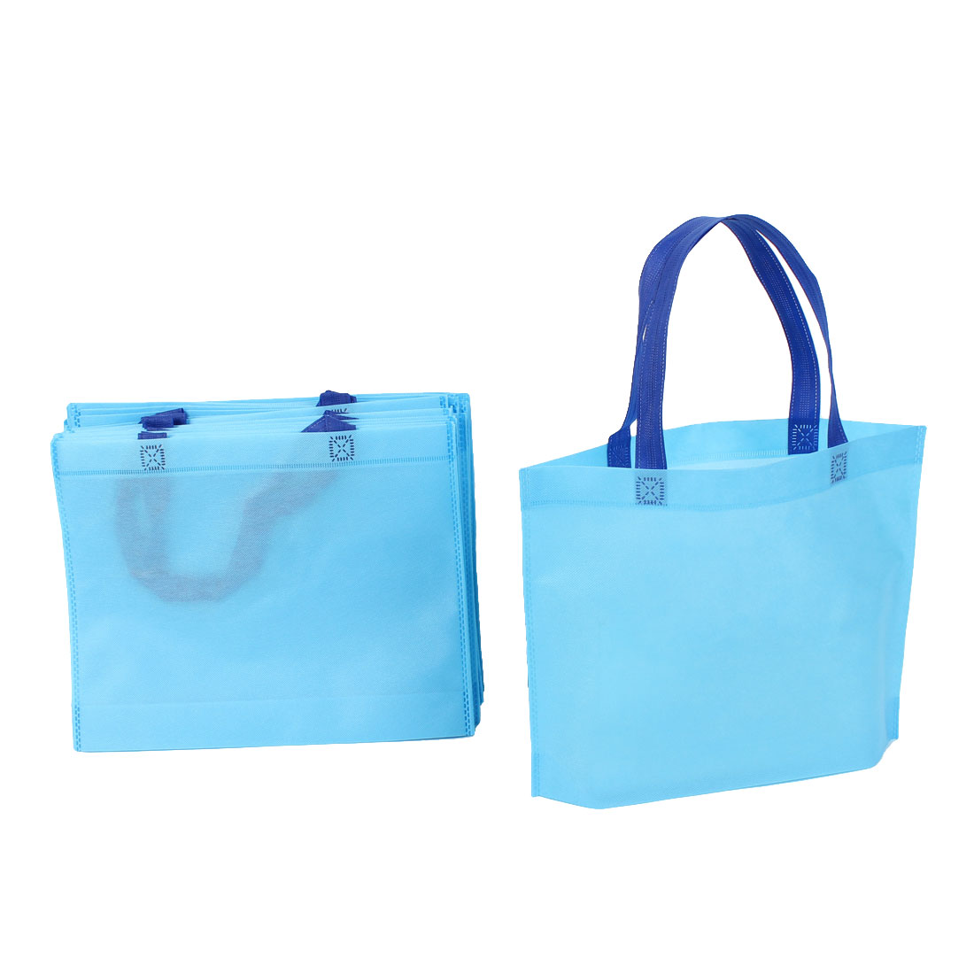 Home Non Woven Foldable Reused Shopping Bag 35cm x 28cm Blue 20 Pcs