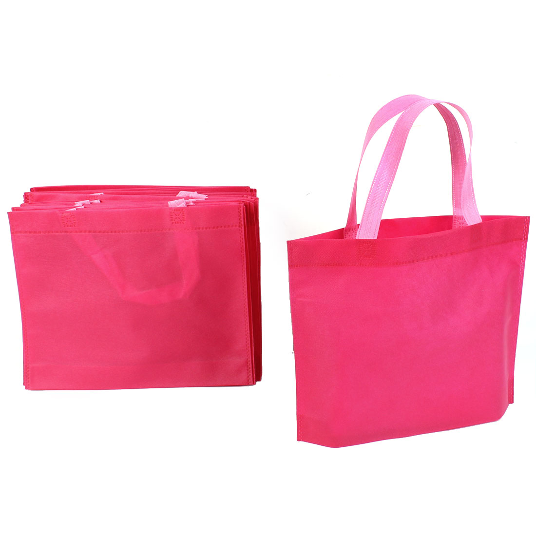 Non Woven Folding Reusable Shopping Bag 35cm x 28cm Red 20 Pcs