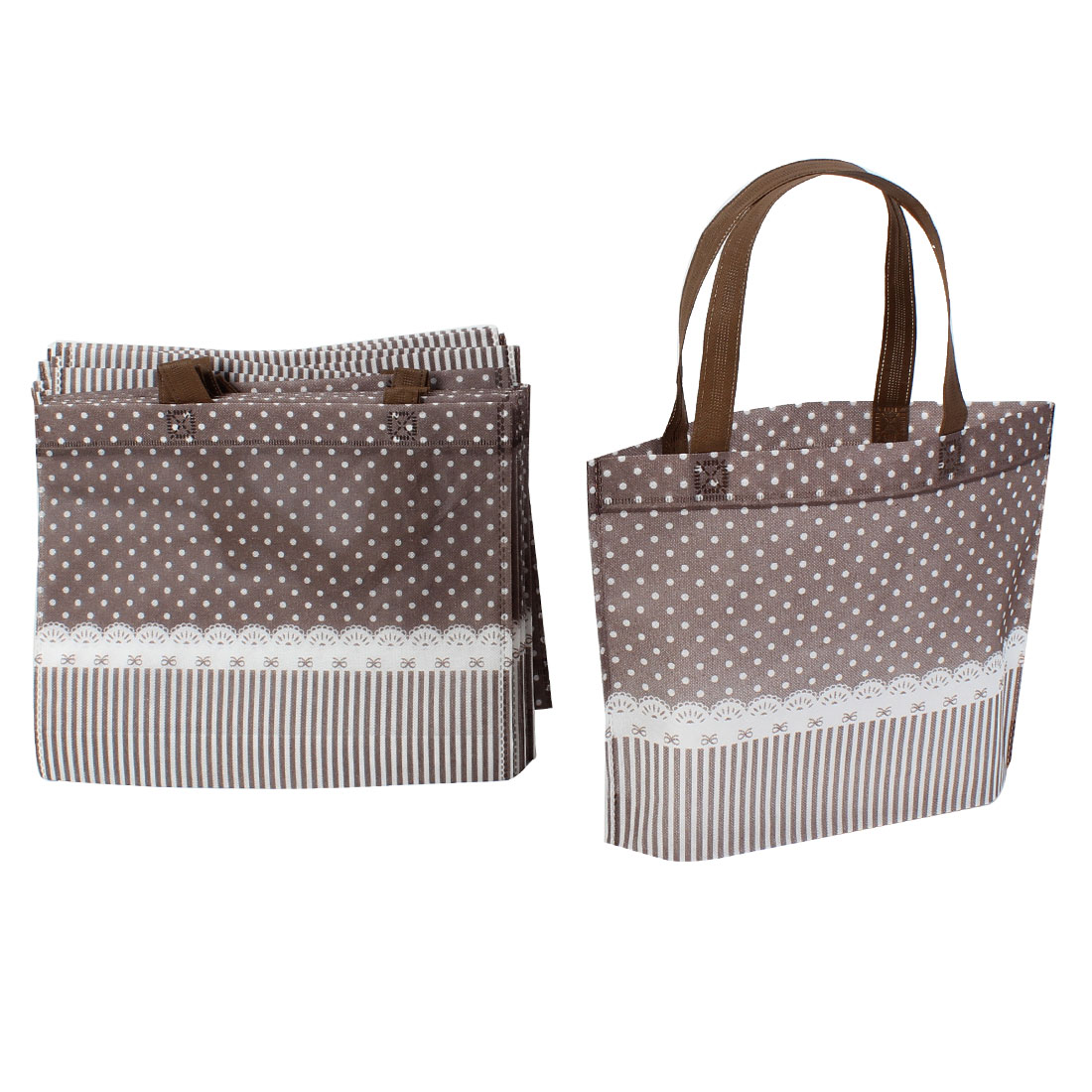 Non Woven Dots Printed Shopping Bag 35cm x 28cm Rosybrown 20 Pcs
