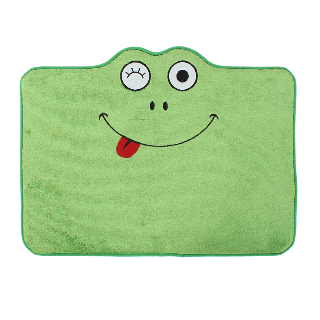 Household Frog Pattern Floor Mat Area Rug Carpet 60cm x 40cm Green