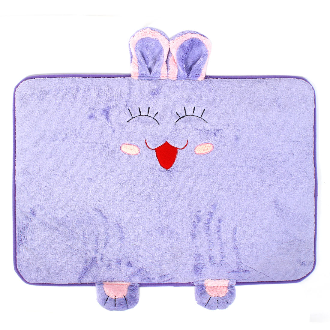 Bedroom Rabbit Pattern Floor Mat Area Rug Carpet 60cm x 40cm Purple