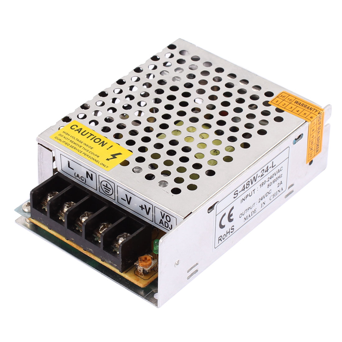AC 180-240V DC 24V 2A Switching Power Supply Driver for LED Strip Light