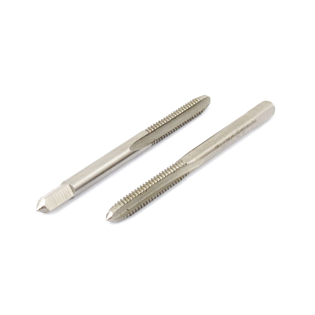 2pcs 4mm Flute Diameter HSS Screw Thread Metric Taper Tap 8-32UNC