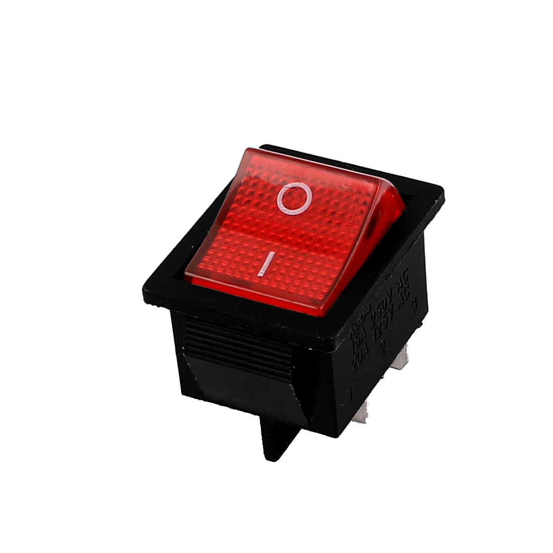 AC 250V 16A AC125V 20A ON/OFF 2 Positions DPST 4 Terminal Panel Mounting Boat Rocker Switch Red