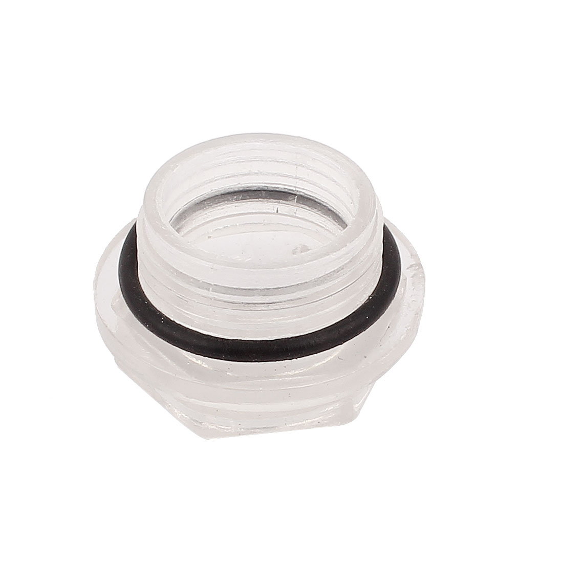 25mm Threaded Dia Hex Head Air Compressor Oil Level Liquid Sight Glass