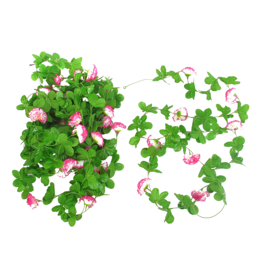 5 Pcs 2.4M Long Colorful Plastic Fabric Artificial Ornament Flower Hanging Vine for Home Party Decor