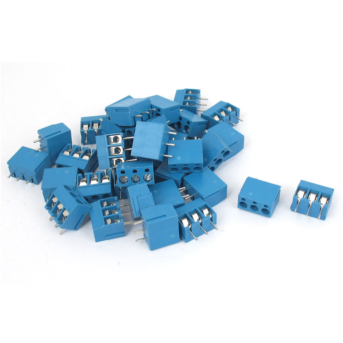 AC 300V 10A 3 Poles 5mm Pitch Pluggable PCB Mount Screw Terminal Block Connector 35pcs