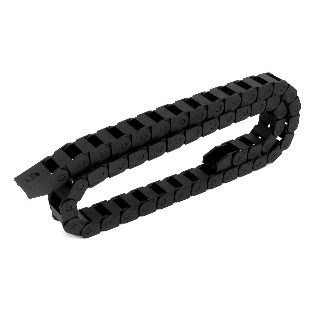 10mm x 15mm 100cm Length Black Plastic Towline Cable Drag Chain Nested Wire Carrier for CNC Router Mill
