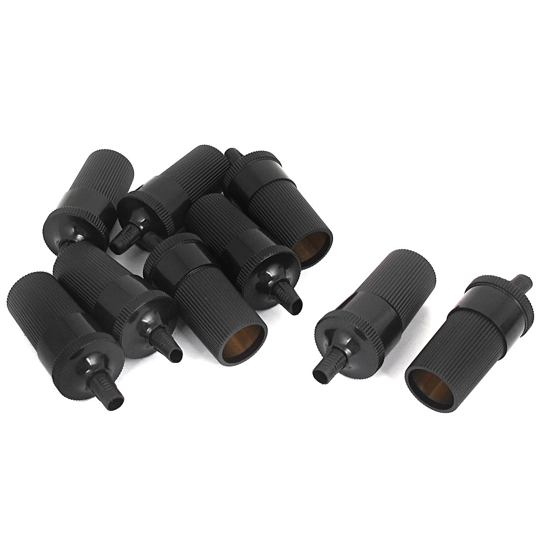 Auto Car Plastic Power Charger Cigar Cigarette Lighter Plug Socket Cable Adapter Black 9pcs