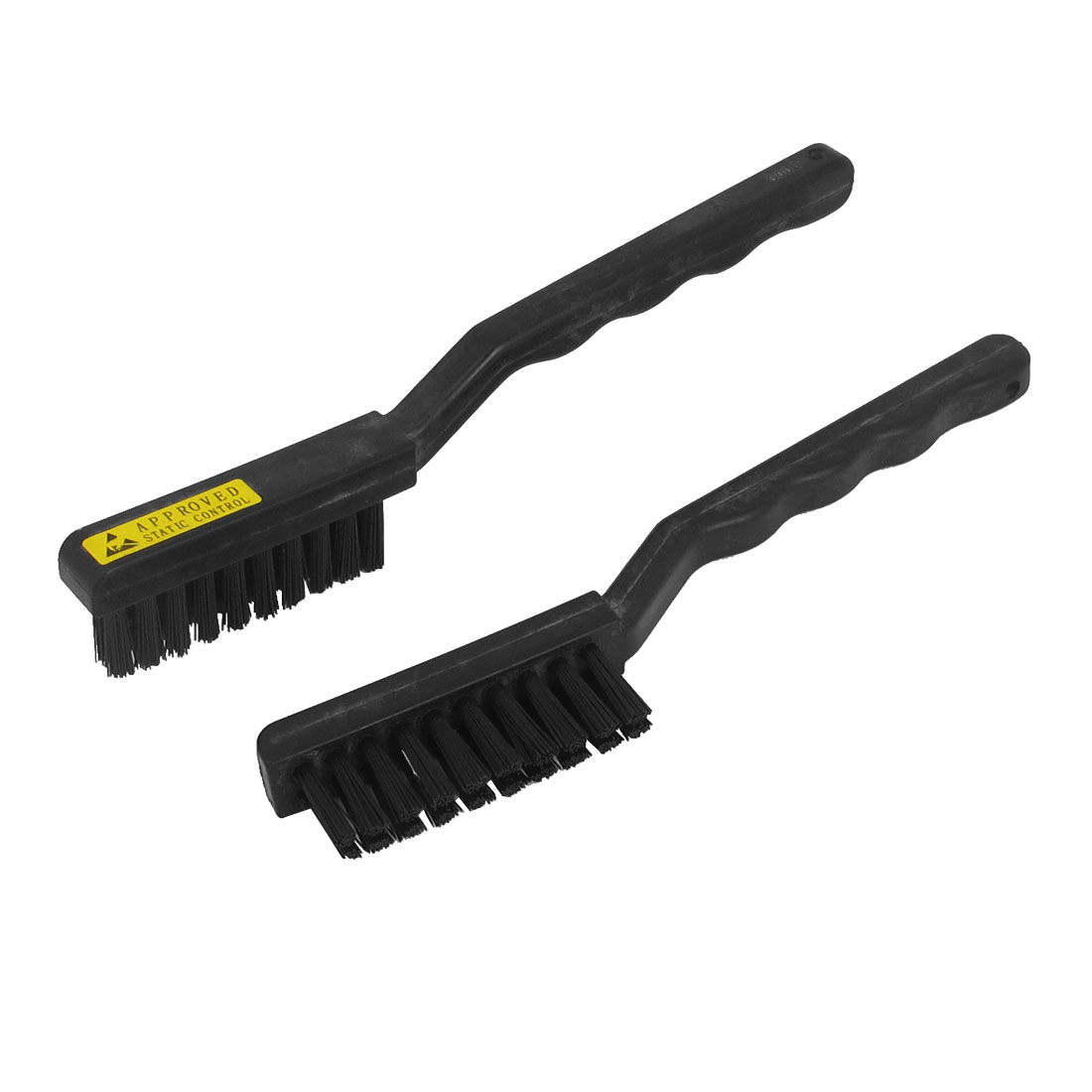 17.5cm Long Black Plastic Handle PCB Circuit Board Cleaning Anti Static Dust Brush 2pcs