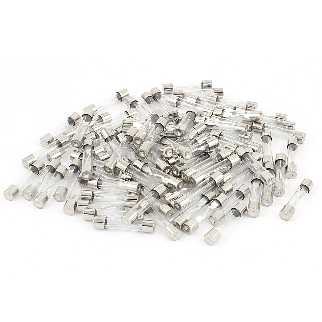 AC 250V 15-30A 6mmx30mm Quick Blow Fast Acting Low Breaking Capacity Cartridge Glass Tube Fuses 90pcs