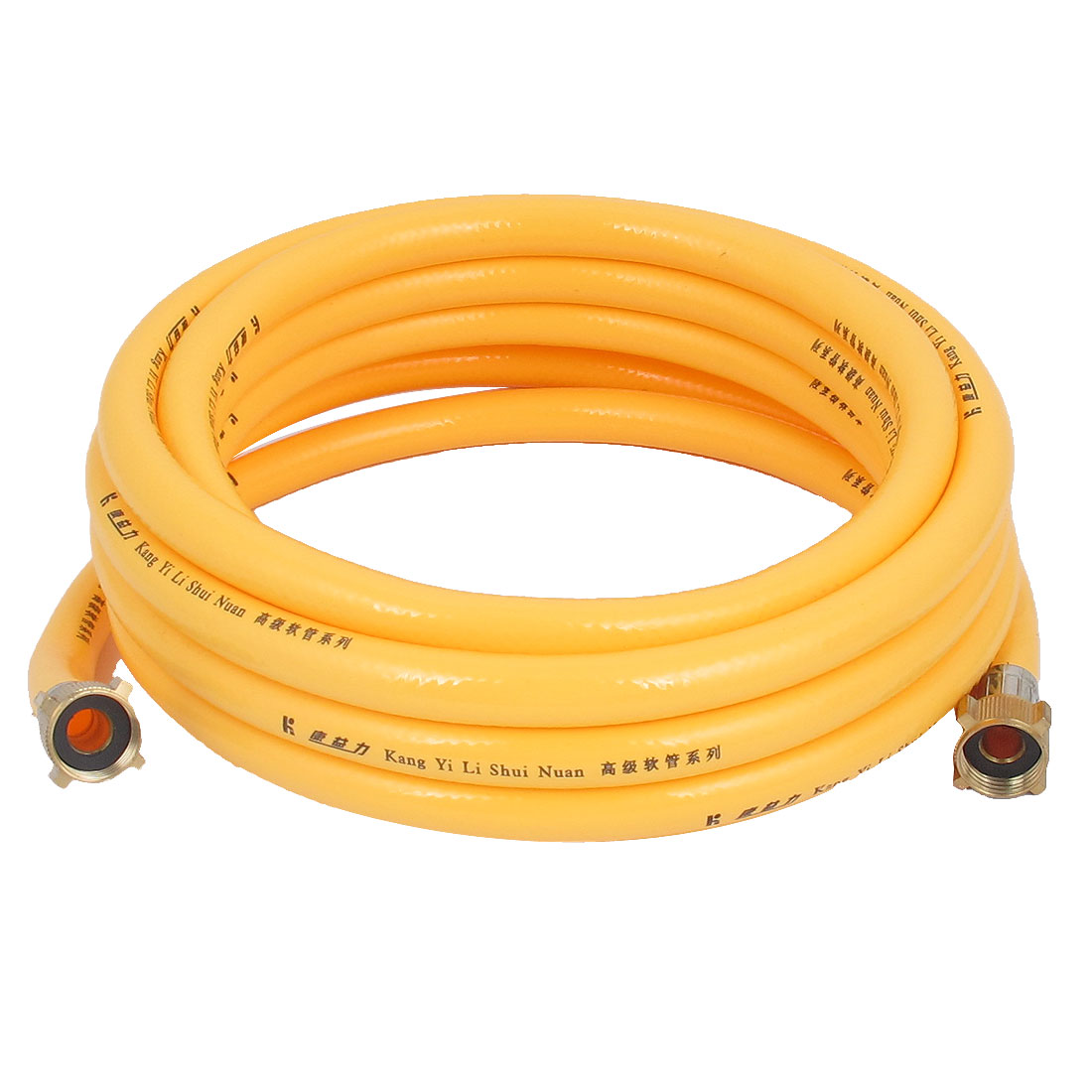 19mm Female Threaded 5M Length Yellow PVC Flexible Garden Watering Water Hose Pipe Tubing
