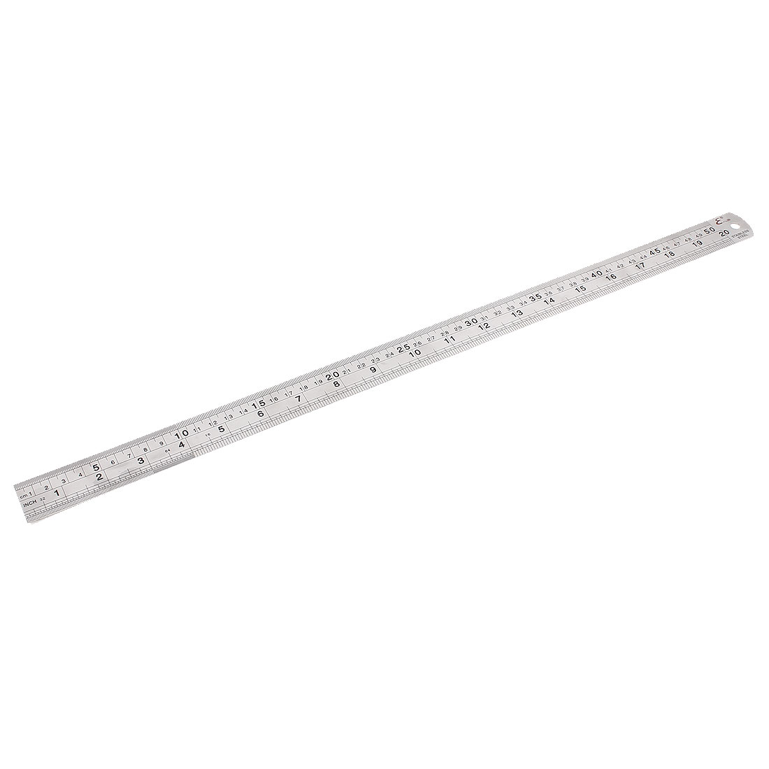 Stainless Steel Double Side Drafting Measuring Straight Edge Ruler 50cm 20 Inch