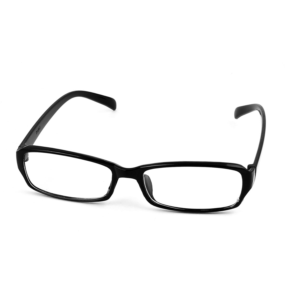 Clear Rectangle Lens Full Frame Eyewear Plain Plano Glasses Spectacles Black